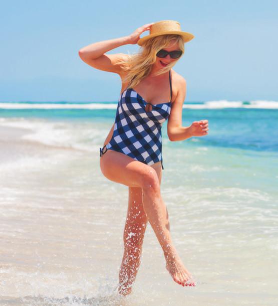swimwear kirsten dunst swimwear gingham