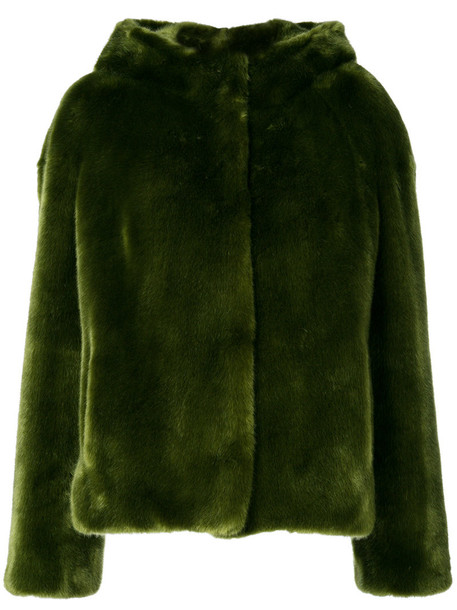 jacket fur jacket fur women green