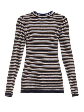sweater wool sweater long wool navy