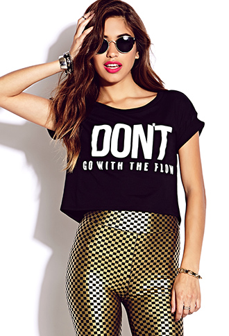 Flow With It Cropped Tee | FOREVER21 - 2000129317