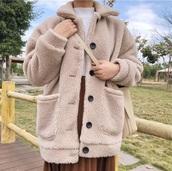 coat,girly,sherpa,button up,fur,fur coat,fur jacket,tumblr,cute,comfy
