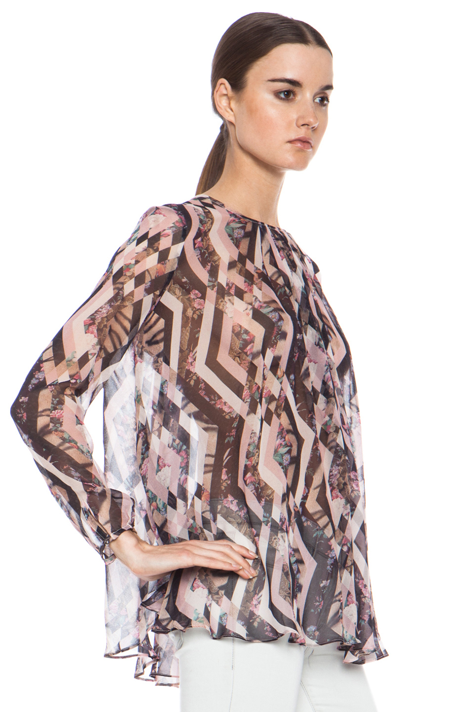 Zimmermann|Tamer Diamond Silk Swing Top in Print