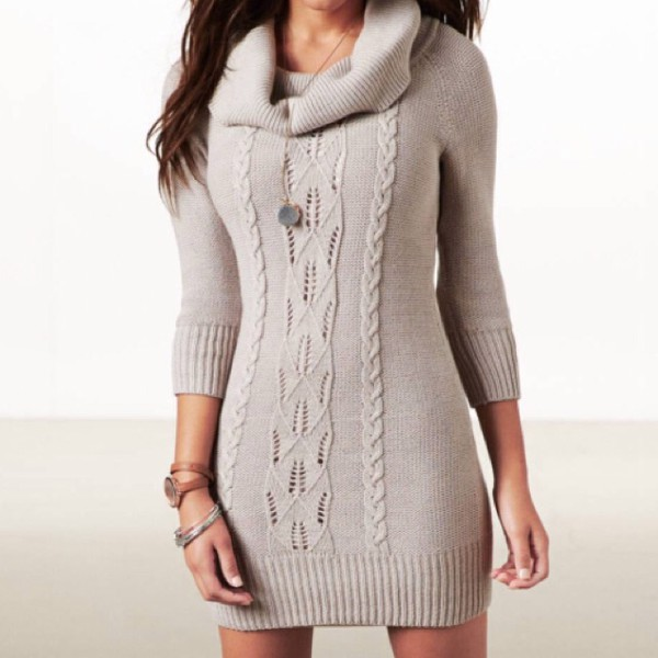 winter outfits sexy dress winter sweater winter dress hot beige necklace jewels party bodycon dress streetwear streetstyle knitwear sweater dress