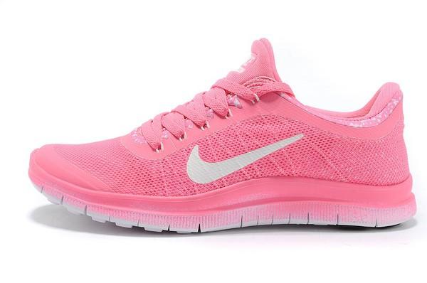 shoes nike nike free run nike sneakers pink white wheretoget. Black Bedroom Furniture Sets. Home Design Ideas