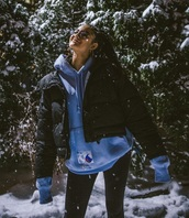 shirt,sweatshirt,blue,glasses,luna blaise,champion,winter outfits,jacket,coat