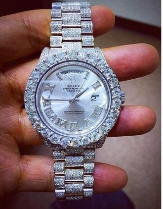 jewels silver sparkly watch women watch rolex