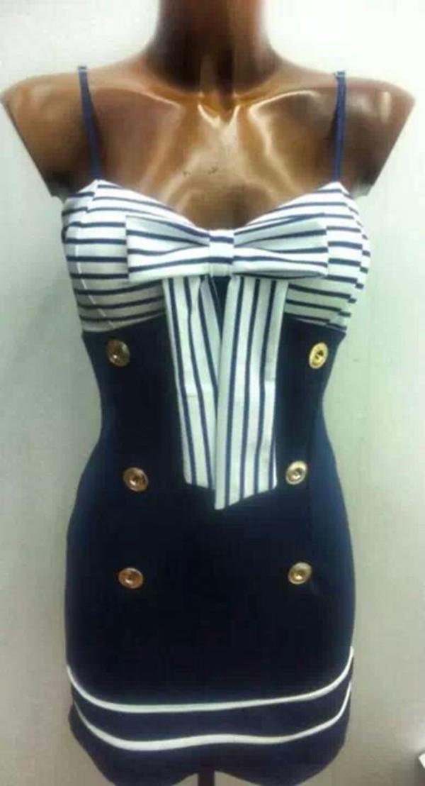 dress navy sailor blue