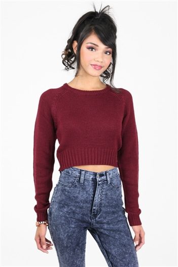 Hannah Knit Crop Sweater
