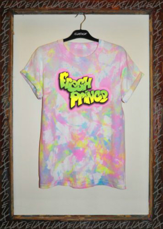 t-shirt tie dye fresh prince fresh prince of bel air will smith 90's tie dye shirt