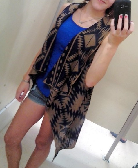 necklace blouse jacket t-shirt jewels cardigan aztec vest peplum jeans bracelets ring girly
