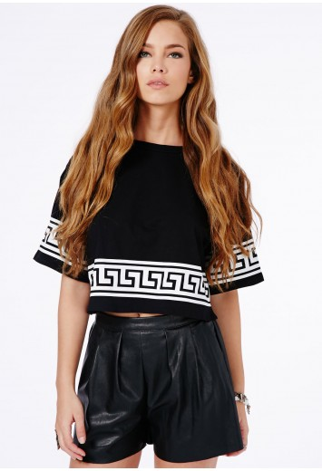 Layla High Waist Leather Shorts - Shorts - Missguided