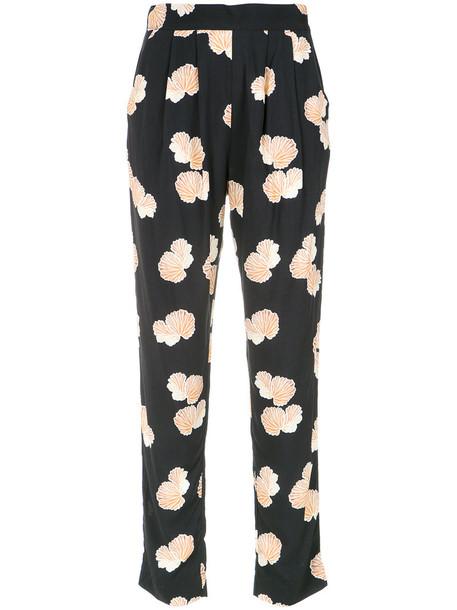 Andrea Marques women print black pants