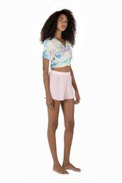 shorts,sapia simone,High waisted shorts,baby pink,short with zip,bikiniluxe