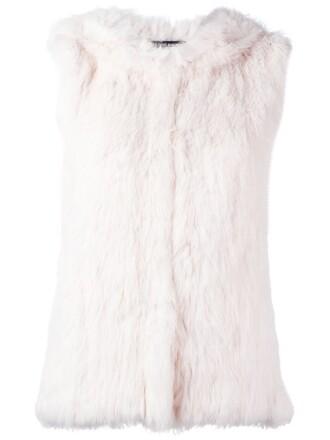 vest fur vest fur purple pink jacket