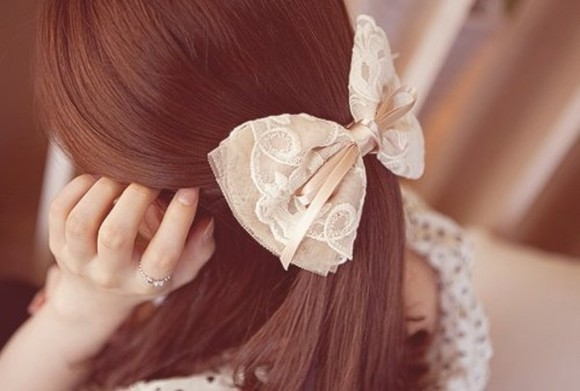 jewels hair bow vintage hair accessory