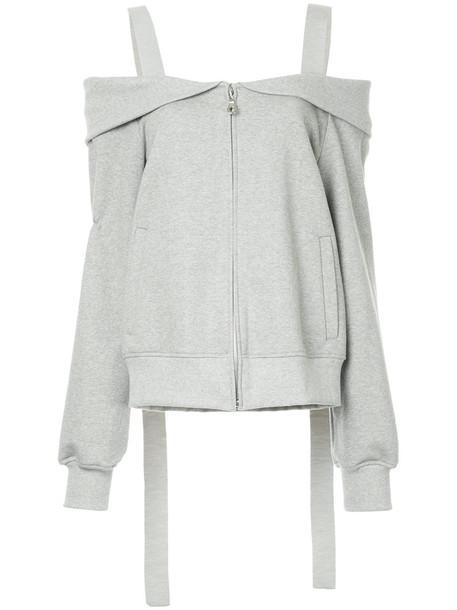 GOEN.J jacket women layered cotton grey
