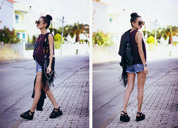 mexiquer sunglasses top shorts bag shoes