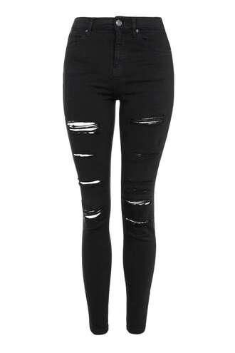 jeans ripped jeans black jeans skinny jeans black skinny jeans distressed denim topshop