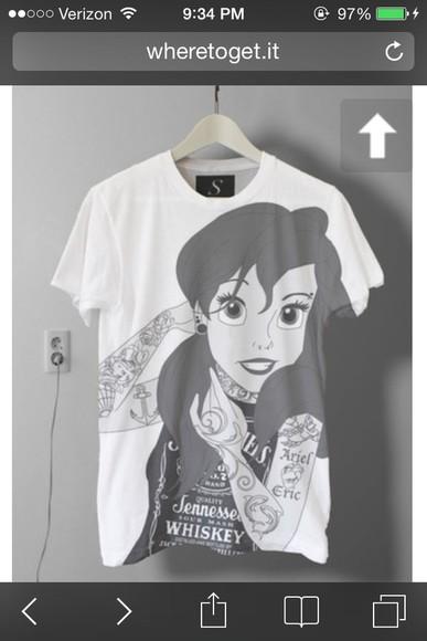ariel shirt punk t-shirt