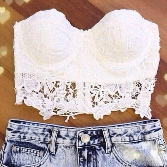 tank top pretty white lace top summer bralet sunny summer outfits