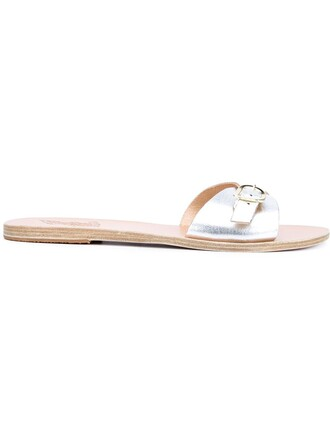 sandals flat sandals metallic shoes