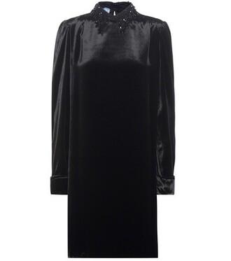 dress mini dress mini embellished satin black