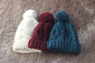 hat white beanie winter outfits hat winter knitted beanie winter hat white winter hat red winter hat blue winter hat red hat blue hat white hat pom pom beanie red blue hair accessory fluffy tumblr cute