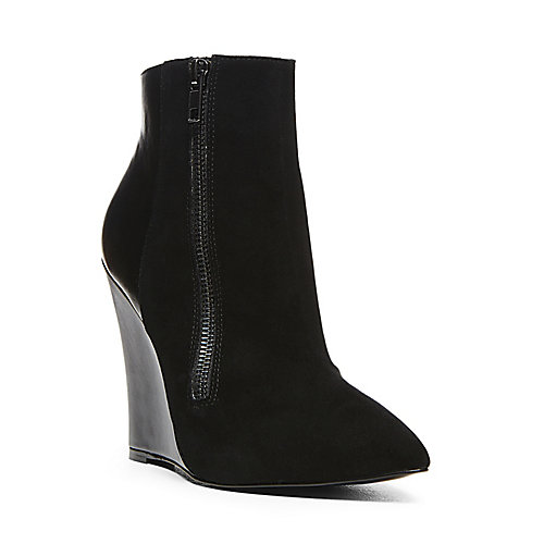 DAARING BLACK MULTI women's bootie mid wedge - Steve Madden