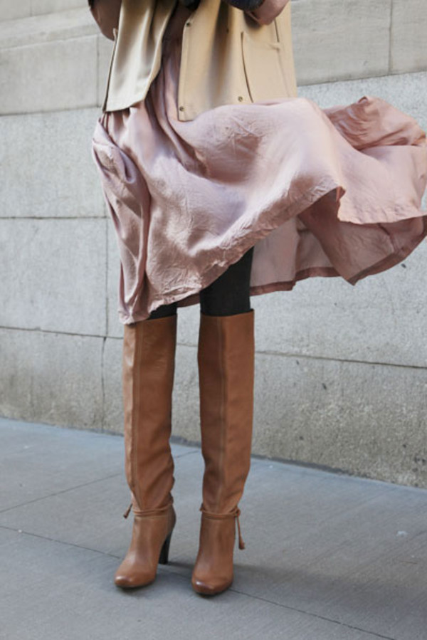 Shoes: boots, over the knee boots, tan boots, over the knee, brown ...
