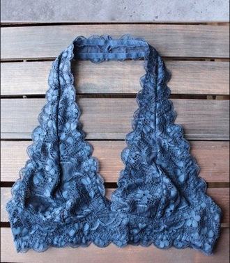 underwear girly blue lingerie lace lace lingerie bralette