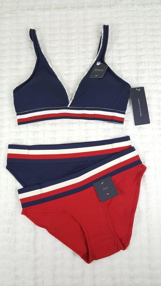 036f53116b4fc new tommy hilfiger women apex bralette bra 2 x bikini underwear set ...