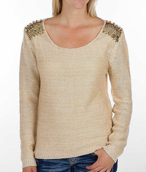Daytrip Embellished Shoulder Sweater - Women's Sweaters | Buckle