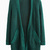 Dark Green Pocket Loose Longline Knit Cardigans - Choies.com