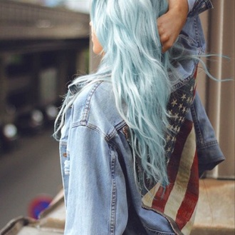 coat denim jacket denim jacket vintage coat american flag