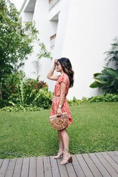 chictalk,blogger,dress,jewels,sunglasses,shoes,cult gaia bag,mini dress,sandals,summer outfits