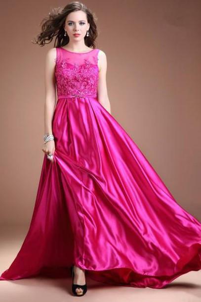 91f3d29d101 dress prom dress prom dress prom gown evening dress evening dress evening dress  hot pink prom