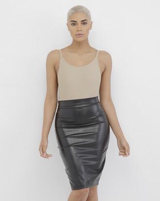 skirt black black skirt faux leather faux leather skirt leather skirt leather pants black leather skirt
