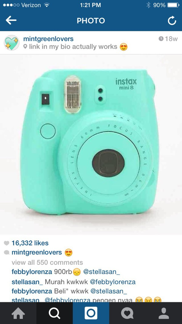 ... Mini 8 Instant Film Camera (Pink) : Polaroid Camera : Camera & Photo
