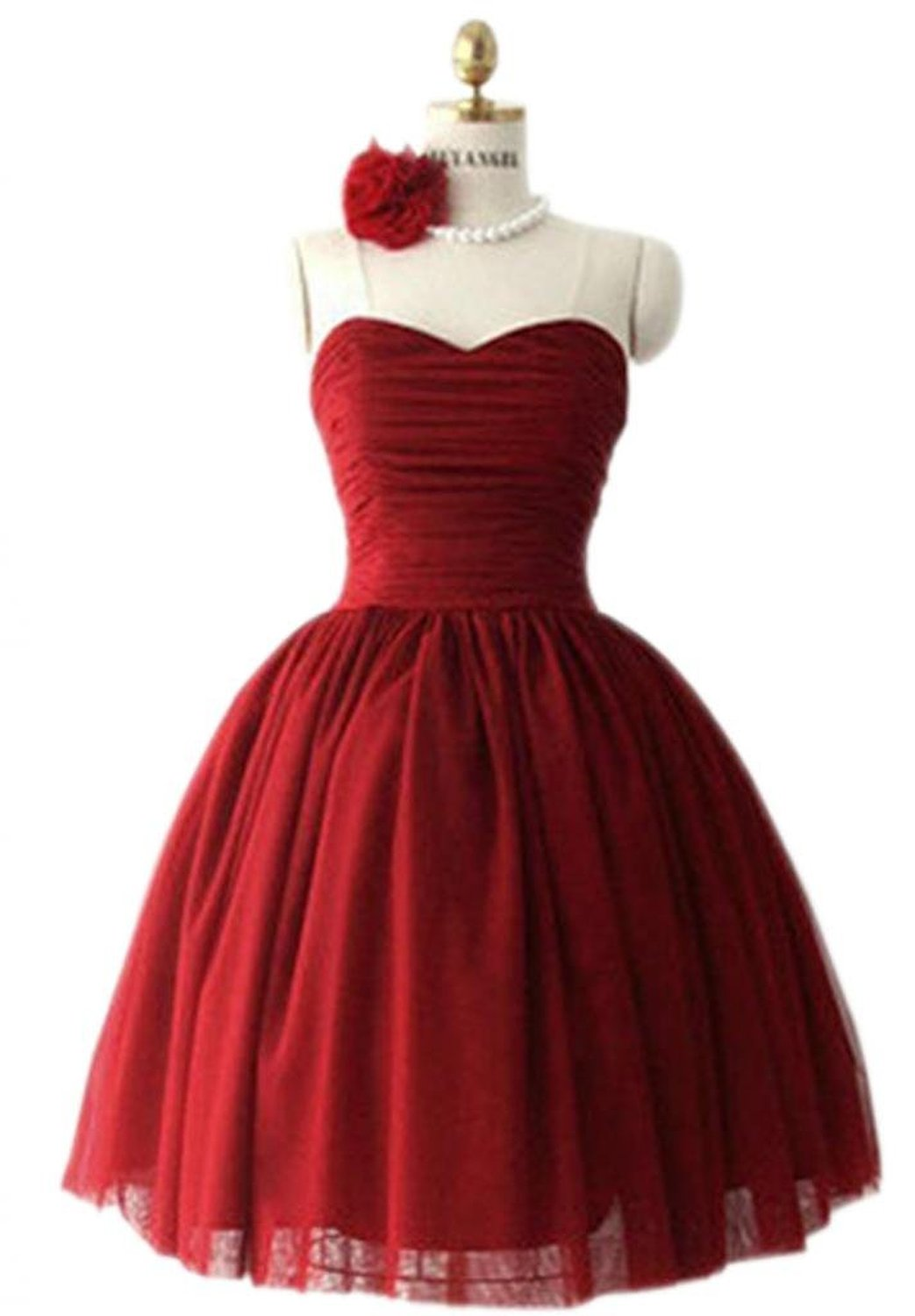 amazon com wedding dresses PrettyDresses Women s Short Burgundy Wedding Party Dress Bridesmaid Dresses at Amazon Women s Clothing store