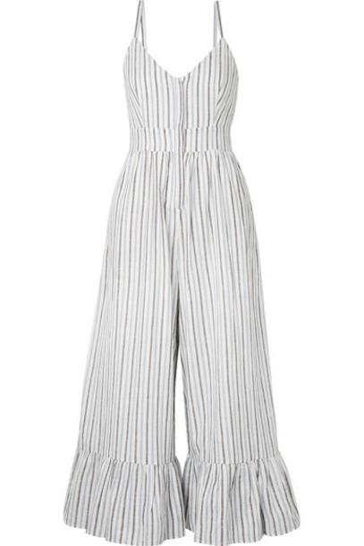 jumpsuit white cotton