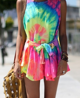 dress tie dye short rainbow hat jacket lgbt bow pink clothes bag hippie chic boho romper jumpsuit blouse summer dress tie dye dress summer outfits festival festival dress hippie vintage colorful hippie dress neon dress neon party shirt oversized tie dye shirt cute short dress girly dip dyed cute dress multi colord summer hipster hipster dress tumblr outfit tumblr tumblr dress mini dress neon house of troika bright colored jewels beach print tye dye dress belt flowy dress jump suit rainbow tie-die in love tie dye romper skater dress love the 80's love the 80s rainbow dress pink dress yellow dress blue dress green dress colorful dress style shorts pattern white or tie dye