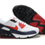 Men's Air Max 90 White Obsidian Red Shoes