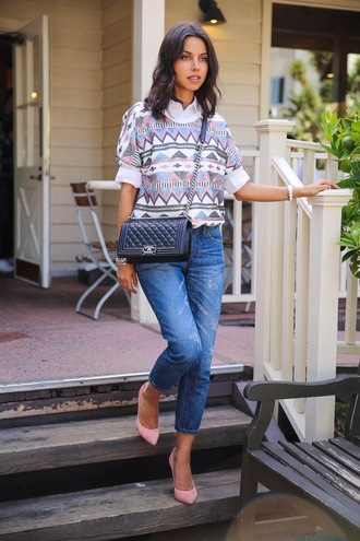 viva luxury sweater jeans shoes bag jewels sunglasses nail polish