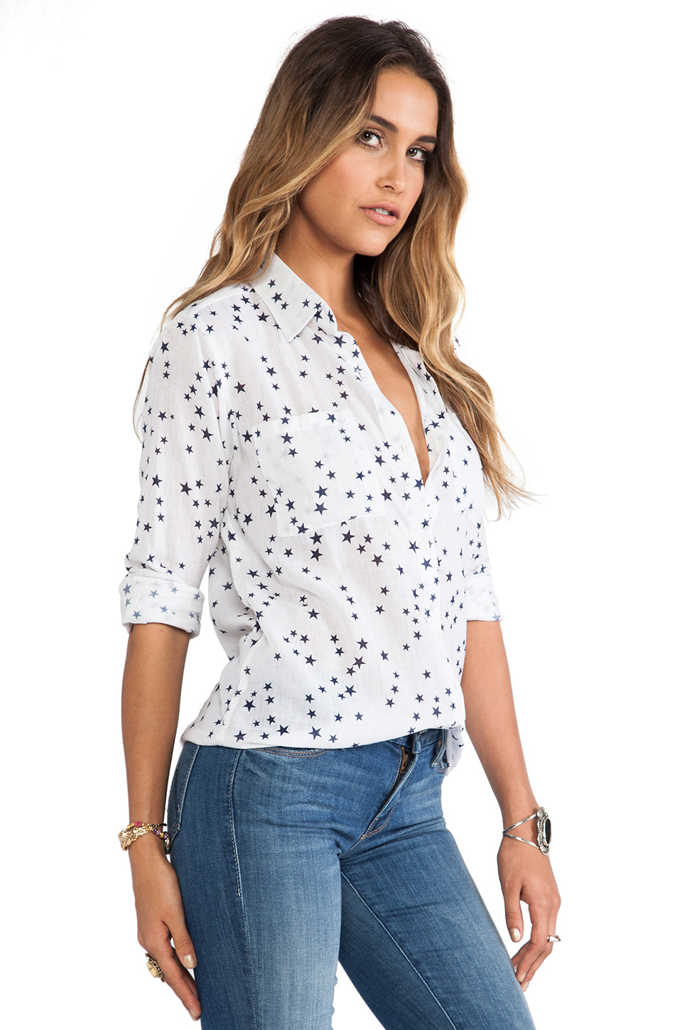 Rails Madison Button Down in Stars | REVOLVE