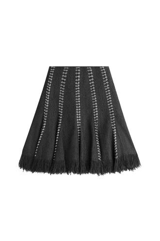 skirt embellished skirt embellished cotton wool black