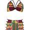 Ankara print line bikini