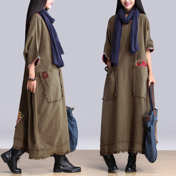 dress khaki green