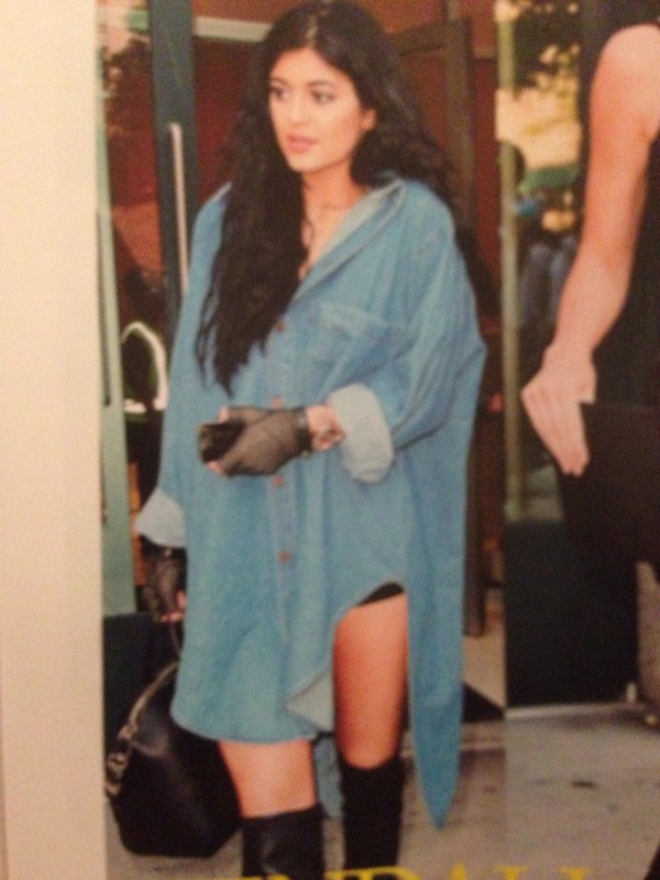 oversized denim shirt denim kylie jenner denim shirt
