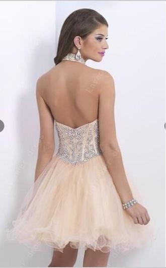 halter dress backless dress organza dress homecoming dress sleeveless a-line dress short dress prom dresse evening dress