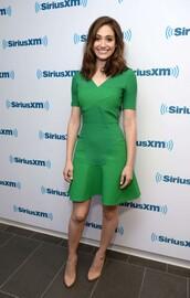 dress,green dress,green,emmy rossum